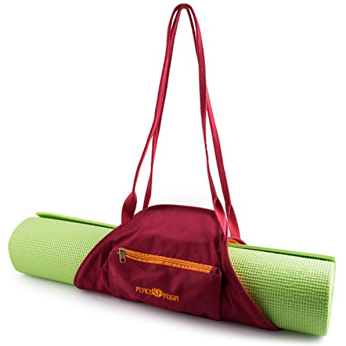 Peace Yoga Burgundy Yoga Mat Wrap Bag Carrier