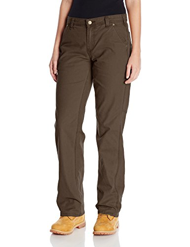 - Carhartt Women's Original Fit Crawford Pant, Dark Brown, 4 Short