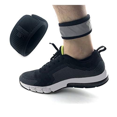 Careor réfléchissant Bras réglable et cheville Course Band Bracelet Bande avec Velcro et étui à filet pour Garmin et Fitbit One/Fitbit Flex 2/Fitbit Alta/Alta HR Fitness tracker Bracelet