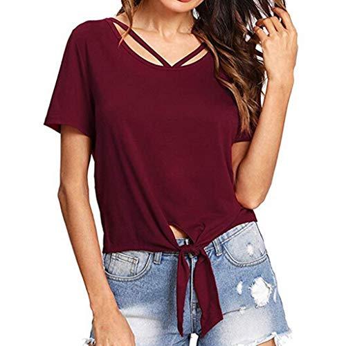 Long Sleeve Shirt Women Short Sleeve Shirt Women 94s Shirts for Women Summer Tops for Women WineRed