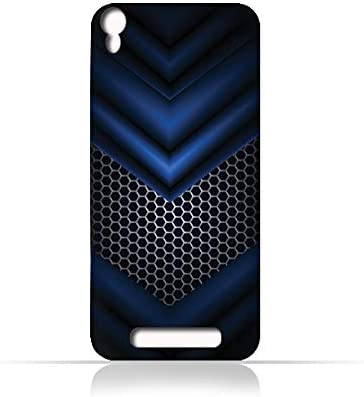timeless design 66588 f32b8 AMC Design Lava Iris 820 TPU Silicone Case With Abstract Blue Mesh ...