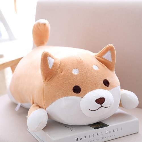 WATOP Stuffed Animals - Teddy Bears | 36/55cm Cute Shiba Inu Plush Stuffed Toys Super Soft Kawaii chai Dog Plush Pillow Cartoon Animal Doll for Kids Baby Gift (Brown Open eyes-36cm)
