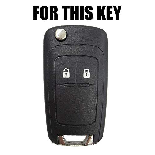 Amazon.com: Carcasa de silicona con 2 botones para llave de ...
