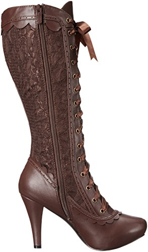 Ellie Sko Kvinners 414-mary Boot Brown