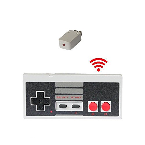 HonWally Wireless Controller For NES Classic Edition With Build in Battery Gamepad Joypad for Nintendo Mini NES Classic Wireless reach up to 10 Meters