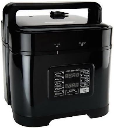 deni cooks essentials square pressure cooker