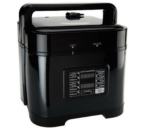 Cooks Essentials Pressure Cooker 5.25 qt. Square Digital