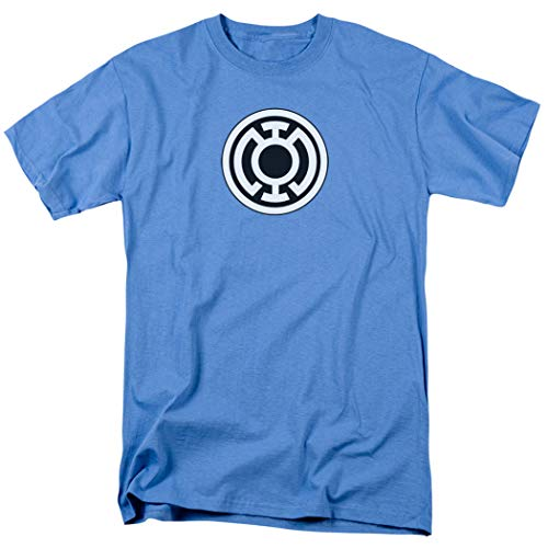 Green Lantern Blue Lantern Corps Logo T Shirt & Exclusive Stickers (Small)
