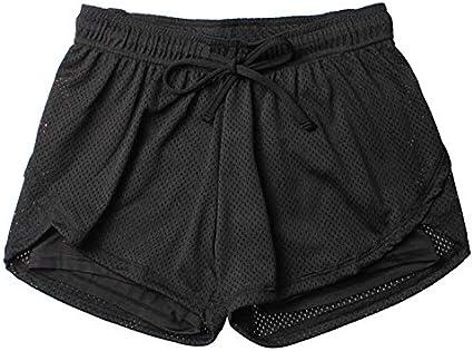 Mackur Damen Sport Shorts Mesh Gym Yoga Shorts Atmungsaktiv Laufshorts Fitness Trainingsshorts M/ädchen