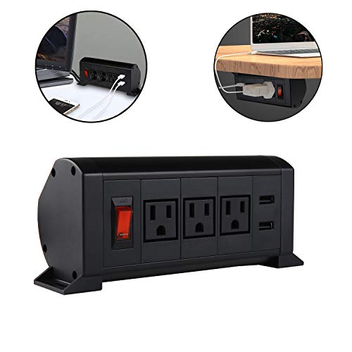Surge Protector Power Strip,Under The Desk/Table Power Center,Desktop Power Center Work Surface ()