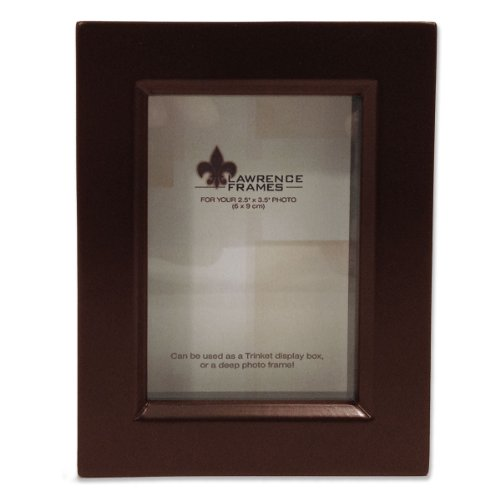 Lawrence Frames 795123 Espresso Wood Treasure Box Shadow Box Picture Frame, 2.5 by 3.5-Inch by Lawrence Frames