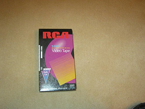 RCA T-120H VHS Video Cassette 120-Minutes  Blank Tapes Stand
