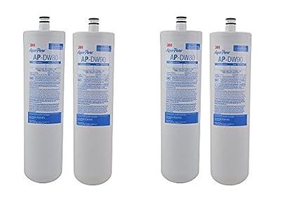 3M AquaPure Under Sink Replacement Water Filter – Model AP-DW80/90 (2-(Pack))