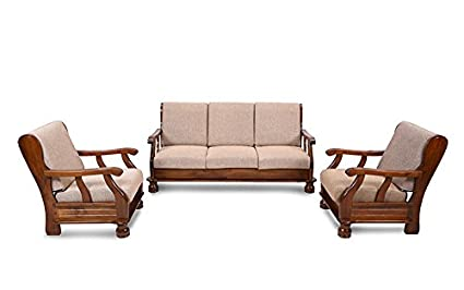 5054af5fa96 Royal Oak Zita Five Seater Sofa Set 3-1-1 (Brown)  Amazon.in  Home ...