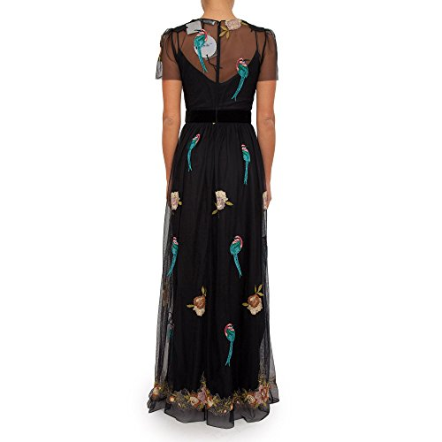 blugirl Fantasie 22390 Schwarze Kleid Langes Damen 4qwUx4rn