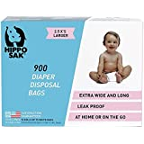 Hippo Sak Diaper Disposal Bags, 900 Count, white