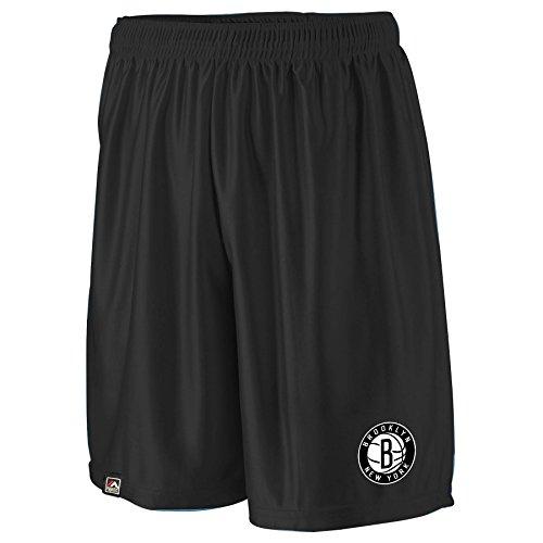 NBA Brooklyn Nets Men's B&T Poly Fleece Team Shorts, 4X, Black
