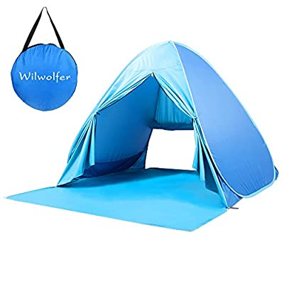 Pop Up Tent Beach Sun Shelter Portable UV Protection Shade Cabana for Outdoor