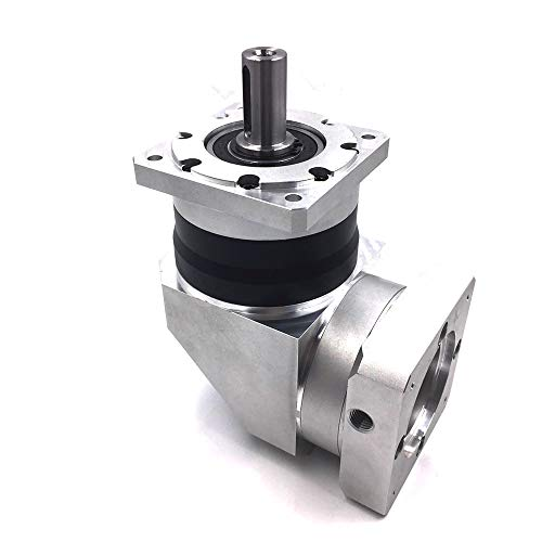 - Fevas Right Angle Servo Speed Reducer Ratio 80 100:1 3500rpm 80mm Planetary Gearbox reducerfor NEMA32 Servo Motor