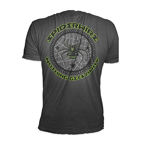 SpiderWire Mens Cotton Circle Icon Tread Graphic Printed Short Sleeve T-Shirt Black X-Large