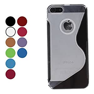 get Elegant S Shape Hard Case for iPhone 5/5S (Assorted Colors) , Red