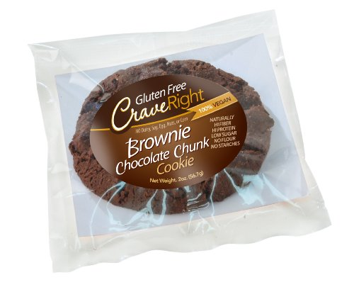 Gluten-free, 100% Vegan – 2 Oz Individually Wrapped Jumbo Cookie (Brownie Chocolate Chunk) (Pack of 6)