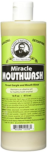 Uncle Harry's Natural Alkalizing Miracle Mouthwash - Balances pH & Soothes Throat While Freshening Breath (16 fl. oz.)