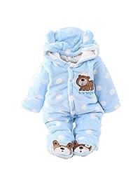 Gaorui Newborn Baby Jumpsuit Outfit Hoody Coat Winter Infant Rompers Toddler Bodysuit