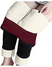 Orgrul Elastische dameslegging, warme broek, fleece, dikke pluche voering, ondoorzichtige legging, thermische legging, panty