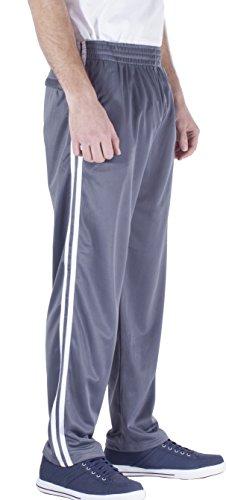 Vertiacl Sport Men's Open Bottom Light Weight Track Pants JP12 (XLarge Gray) ()