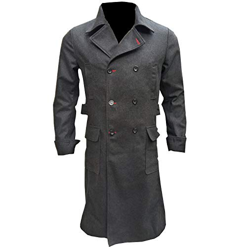 Marche Sydney - Sherlock Holmes TV Series Benedict Cumberbatch Wool Long Trench Coat Jacket (XL)