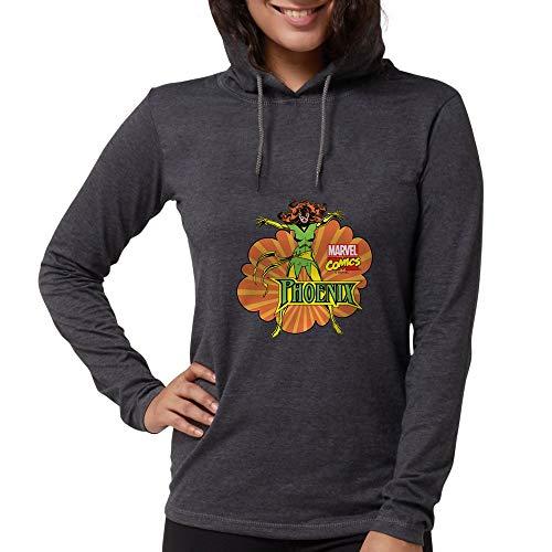 CafePress Phoenix X Men Womens Hooded Shirt Heather Grey