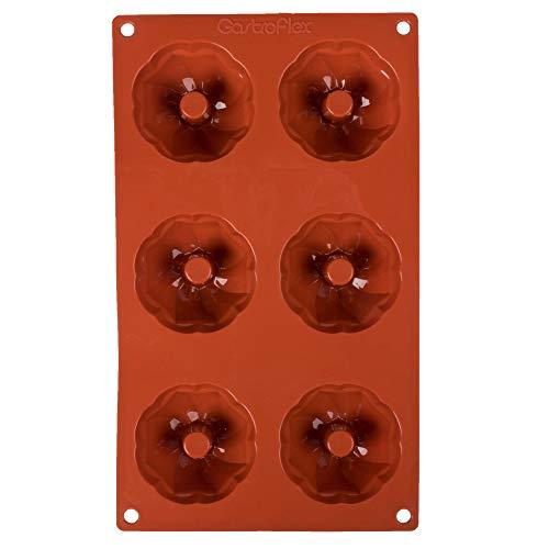 TableTop King 257931 Gastroflex Silicone 6 Compartment Mini Kugelhopf Mold