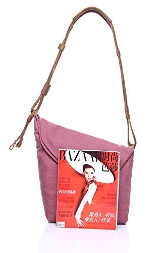 Trend Unisex Ghc Art Messenger Crazy Men's Retro Bolsos Bag Pink Hombro Canvas Horseskin Shoulder Y wXUUAqI