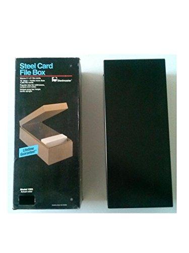 Steelmaster 1353 Steel Card File Box 3'' x 5'' Card File 3'' x 5'' x 13'' Black Holds 1300 Cards (Virgin Vintage Product) by STEELMASTER