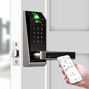 Keyless Locks with Bluetooth/Biometric Fingerprint Door Lock Electronic Keypad Digital Smart Locks for Home by ZKTeco