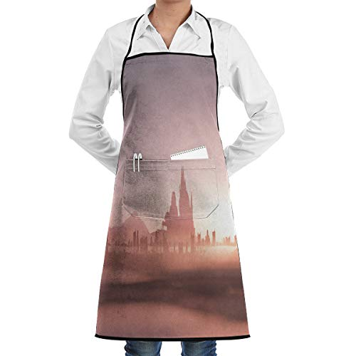 SWT Home Sunrise Fog Adjustable Kitchen Apron With