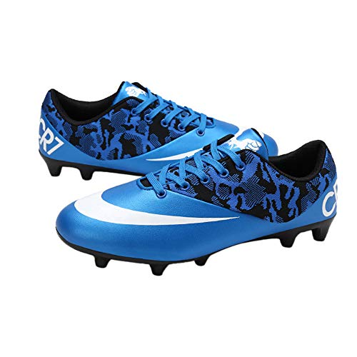 0c9facc8edb iFANS Men Athletic Outdoor Indoor Comfortable Soccer Shoes Boys Football  Student Cleats Sneaker Shoes Blue