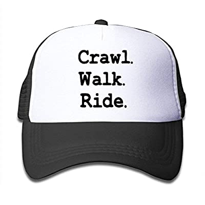 Youth Crawl Walk Ride Mesh Football Caps Black