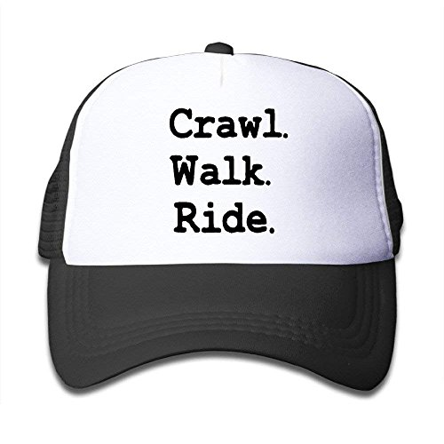 Waldeal Toddler Youth Crawl Walk Ride Mesh Sporting Cap Hat Black