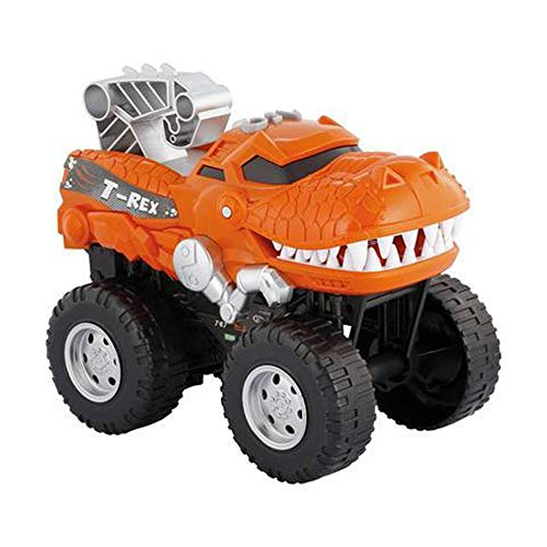 Powerful Dinosaur Monster Truck with Chomping, Roaring T-Rex - Battery Powered Dinosaur Car Lights Up with Revving Engine Sounds and Pops Wheelies - Great Dinosaur Toys for Boys and Girls Ages 3+ (Girls Monster Trucks Toys)