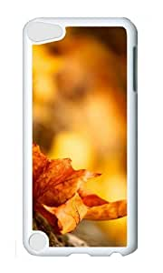 Ipod 5 Case,MOKSHOP Cute Autumn Maple Leave Hard Case Protective Shell Cell Phone Cover For Ipod 5 - PC White