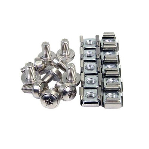 50 Pkg M6 Rack Mounting Screws and Cage Nuts For Server Racks/Cabinets 4xem Corp. 4XM6CAGENUTS