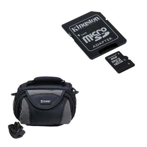 Kodak PixPro SPZ1 Camcorder Accessory Kit includes: U09371 Memory Card, SDC-26 Case by Synergy Digital