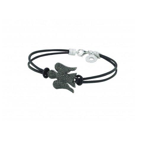 Anges de Giannotti et GIA104N Bracelet cuir Argent