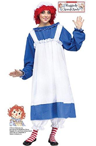 8eighteen Rag Doll Raggedy Ann Adult Costume (Gothic Rag Doll Costume Plus Size)