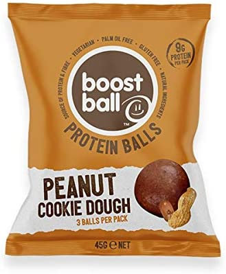 Boostball Peanut Butter Cookie Dough Protein Boost Ball (Packung mit 12 x 42 g)