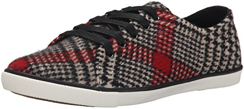 Woolrich Women's Strand Fashion Sneaker, Red Plaid Wool, 7 M (Red Plaid Sneaker)