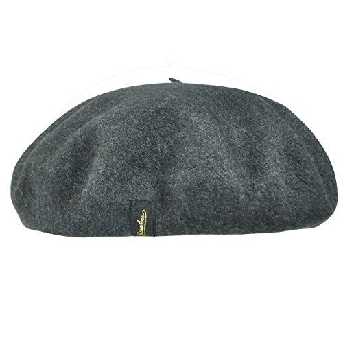 Borsalino Female, Male B80005a Wool Beret Grey M
