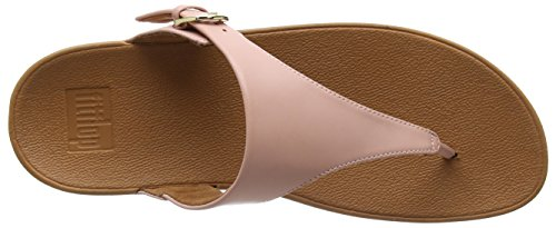 Sandals Plataforma Sandalias FITFLOP Leather Skinny con Rosa Dusky Mujer para Thong Pink Toe x1A6F